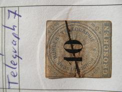 Nord Deutsche Bund Michel Ꙩ Telegraph 7 - North German Conf.