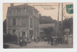 78 - CONFLANS SAINTE HONORINE / AU PONT DE CONFLANS - CAFE RESTAURANT - MAISON FORET - Conflans Saint Honorine