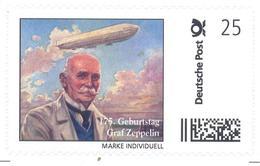 Germany Deutschland Personalised Stamp Individuell; 175 Years Of Ferdinand Graf Zeppelin Geburtstag; Airship; Rare - Montgolfier