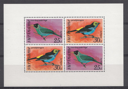 Suriname 1977 Mi.nr: Block 18 Vögel  NEUF Sans CHARNIERE / MNH / POSTFRIS - Suriname
