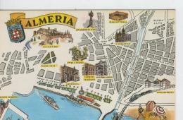Postal 6640 : Plano Ciudad Y Monumentos De Almeria - Cartes Postales