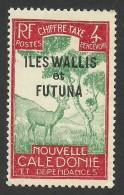 Wallis And Futuna, 4 C. 1930, Sc # J12, MH - Wallis And Futuna