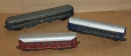 Train électrique Miniature HO - Lot De 3 Voiture Voyageur Pour Pièce - Passenger Trains