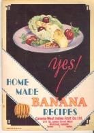 Booklet Home Made Banana Recipes Canada-West Indies Fruit Co. Ltd. Montreal - Keuken, Gerechten En Wijnen