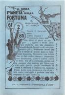 """05068 """"BIGLIETTO PIANETA DELLE FORTUNA - LOTTERIE CABALA VERO PRONOSTICO - CANNA DA PESCA - 61 2 85"""" - Biglietti Della Lotteria"""