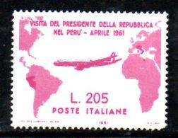 T1590 - REPUBBLICA 1961 GRONCHI ROSA RISTAMPA - REPRINT - 6. 1946-.. Republik