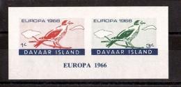 OISEAUX - EUROPA - 1966 - DAVAAR - Bloc Non Dentelé Neuf ** - Konvolute & Serien
