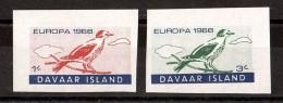 OISEAUX - EUROPA - 1966 - DAVAAR - 2 Timbres Neufs ** Non Dentelés - Konvolute & Serien