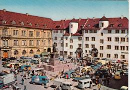 GERMANY - Stuttgart 1970's - Schillerplatz - Automotive - Stuttgart