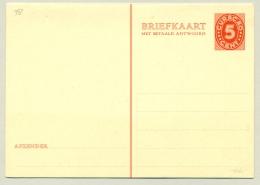 Curacao - 1936 - 5+5 Cent Briefkaart Cijfer Van Vossen, G38 Ongebruikt - Curaçao, Nederlandse Antillen, Aruba