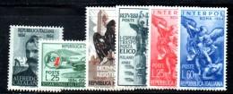 740 - REPUBBLICA  ,  Sei Valori Diversi  **  MNH  Emessi Nel 1954 - 6. 1946-.. Republic