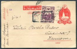 1917 Turkey Censor Uprated Stationery Postcard - Hannover Germany - 1858-1921 Ottoman Empire