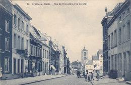 Braine-le-Comte - Rue De Bruxelles, Vue Du Haut (belle Animation,  Feldpost, Edit. Emile Michel, 1915) - Braine-le-Comte