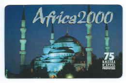 Télécarte France India Inde Taj Mahal  TB Prépayée 75 Unités 2001 - Telefoonkaarten
