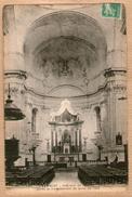 13 / LAMBESC - Intérieur De L'Eglise Après Le Tremblement De Terre De 1909 (tampon 1916) - Lambesc