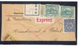 WIT604 TSCHECHOSLOWAKEI ÖSTERREICH 1919 60 HELLER Auf BRIEFSTÜCK Mit Tschechischen MARKEN Siehe ABBILDUNG - Tschechoslowakei/CSSR