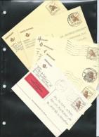 Entier-postal: Buzin N° 197 (obl. ) 6 Pièces           Chouette Chevêche - 1985-.. Pájaros (Buzin)