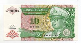 Zaire - 1993 - Banconota Da 10 Nuovi Makuta  - Nuova -  (FDC1697) - Zaire