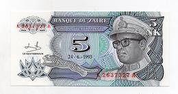 Zaire - 1993 - Banconota Da 5 Nuovi Makuta  - Nuova -  (FDC1699) - Zaire