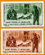 Saint-Pierre Et Miquelon **LUXE 1942 Pa 1 Et 2 Paire - Poste Aérienne