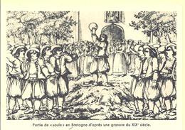 """FRANCE ---  Carte Philatélique --- Partie De """" Soule """" En Bretagne D'après Une Gravure Du XIXe Siècle - Zonder Classificatie"""