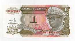 Zaire - 1993 - Banconota Da 1 Nuovo Makuta  - Nuova -  (FDC1700) - Zaire