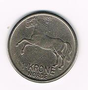 °°° NOORWEGEN  1 KRONE 1959 - Norvège