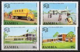 Zambie - 1974 - Yvert N° 125 à 128 ** - Centenaire De L'UPU - Zambie (1965-...)