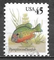 1992 Flora And Fauna Series, 45 Cents Sunfish, Used - Usati