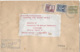 GUATEMALA - SAN FRANCISCO → 1927 Example On Registered Cover To San Francisco With Cancels - Guatemala