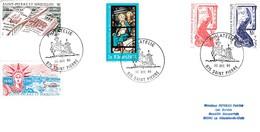 SAINT PIERRE Et MIQUELON - 2 Lettres, Timbres De 1986 (470 à 475) Et 1988 (486 490 491 495A 496) - Lettres & Documents