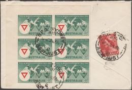 Australie 1956 Michel 256 X 6 Sur Petite Lettre Pour La Suisse. YMCA - 1952-65 Elizabeth II : Pre-Decimals