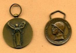 Lot De Deux Médailles Sans Ruban - Abzeichen & Ordensbänder