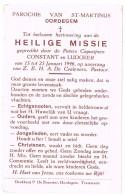 Oordegem: 1946; Heilige Missie Gepredikt Door De Paters Capucijnen Constant En Ludgeer ( 2 Scans ) - Vieux Papiers