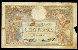 "100 Francs   ""L´OM""  1      8    1935   Env. - 1871-1952 Antichi Franchi Circolanti Nel XX Secolo"