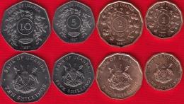 Uganda Set Of 4 Coins: 1 - 10 Shillings 1987 UNC - Uganda