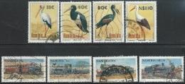 Namibia   1994   Sc#766-73  Storks & Trains Sets Used   2016 Scott Value $4.60 - Namibia (1990- ...)