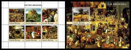 GUINEA BISSAU 2003 - P. Bruegel, Festivals - Mi 2537-42 + B438, YT 1426-31 + BF182 - Feesten
