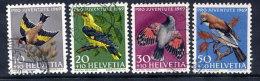 SWITZERLAND 1969 Pro Juventute Birds Set Used.  Michel 914-17 - Pro Juventute