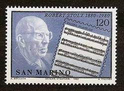 SAN MARINO 1980 - Centennial ROBERT STOLZ Austrian Songwriter / Conductor / Composer - Mi 1219 MNH ** 2003ovg - San Marino