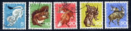 SWITZERLAND 1966 Pro Juventute Set Used.  Michel 845-49 - Used Stamps