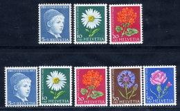 SWITZERLAND 1963 Pro Juventute Set On Both Papers MNH / **.  Michel 786x-90y - Pro Juventute