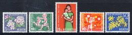 SWITZERLAND 1962 Pro Juventute Set  MNH / **.  Michel 758-63 - Pro Juventute