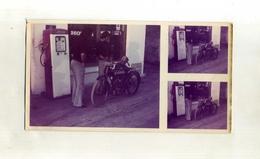 FRANCE . PHOTO DE MOTO ANCIENNE DEVANT UN GARAGE . (pompe à Essence ) . - Sport