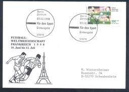 Germany Deutschland 1998 Card: Football Fussball Soccer Calcio; FIFA WM World Cup France; Eiffel Tower - 1998 – Francia