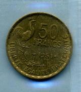 1951 50 Francs TYPE GUIRAUD Bronze-al - M. 50 Franchi