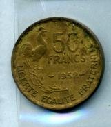 1952 50 Francs TYPE GUIRAUD Bronze-al - M. 50 Franchi