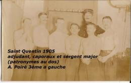 CPP 002 - Lot De 18 Cartes Photos Et Photographies - 87ème RI - SAINT QUENTIN - GUISE - RIENCOURT - MOLLIENS LE VIDAME - Kazerne