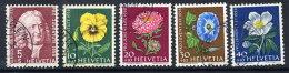 SWITZERLAND 1958 Pro Juventute Set Used.  Michel 663-67 - Pro Juventute