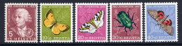 SWITZERLAND 1957 Pro Juventute Set MNH / **.  Michel 648-52 - Unused Stamps